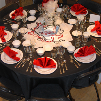 Red and Black Table