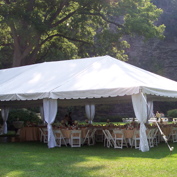 Large Tent on a Bright Day